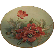 Limoges D & C France Poppy Design Plate