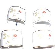 4 Wedgewood Bone China Napkin Rings with Original Box