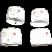 4 Wedgewood Bone China Napkin Rings with Original Box