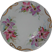 T & V Limoges France Floral Plate 8.25 inches