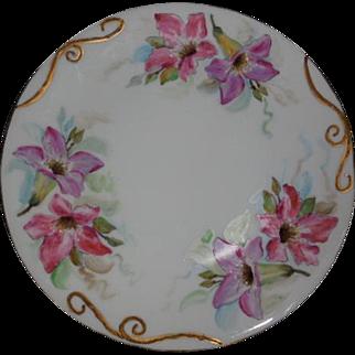 T & V Limoges France Floral Plate 8.25 inches