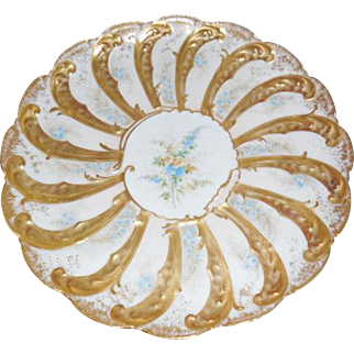 Charles Ahrenfeldt Limoges Hand Painted Porcelain Cabinet Plate