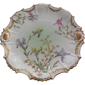 Limoges France LDB&C 1890 Plate Hand Painted Flowers Mark #4