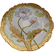 Limoges Elite Hand Painted Porcelain Artist Signed Floral Plate