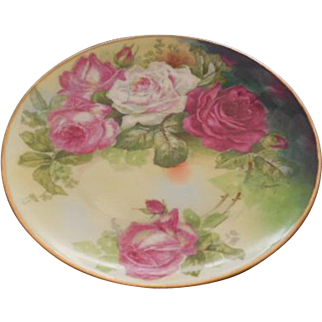 Limoges France Coronet Floral Porcelain Plate 8.5 inches