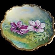 Limoges France Porcelain Hand Painted Plate Artist Signed