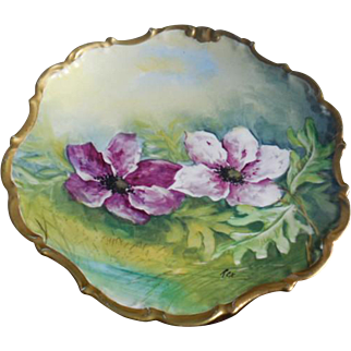 Limoges France Porcelain Hand Painted Plate Artist Signed