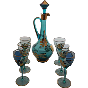 Decanter with 6 matching Wine Goblets