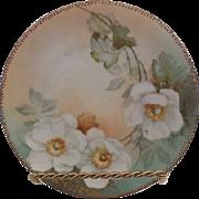 LDBC Limoges France Artist Signed Floral Plate