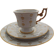 Heinrich - H & Co. Bavaria Germany  Porcelain Cup, Saucer & Underplate