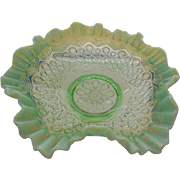Jefferson Green Opalescent Glass Many Loops #247