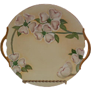 T & V Limoges France Double Handled 1913 Porcelain Plate