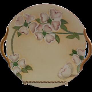 T & V Limoges France Double Handled 1913 Porcelain Plate