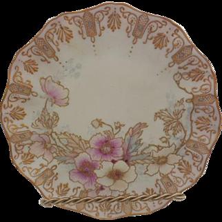 Jean Pouyant Limoges France Floral Porcelain Plate Artist Signed