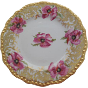 JPL (Jean Pouyat) Limoges France Hand Painted   Porcelain Bread Plate