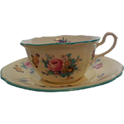 Spode China - Dresden Rose Cup & Saucer