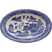 Vintage Blue Willow Vegetable Serving Bowl
