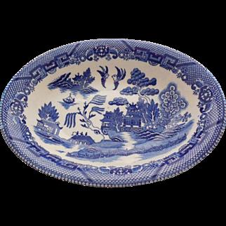 Vintage Blue Willow Vegetable Serving Bowl