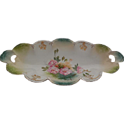 RS Prussia Hand Painted Porcelain Oblong Dish c.1900
