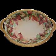 T & V Limoges France Porcelain Hand Painted Bowl Artist Signed