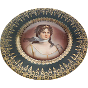 "J & C Hand Painted Porcelain ""Louisa"" 7.75 inch Plate Germany"
