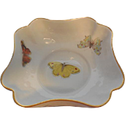 L. Bernardaud & Co. Limoges France Butterfly Square Bowl