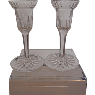 Waterford Crystal Candleholders-Marked