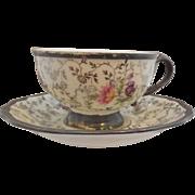 Johan Haviland Demitasse Tea Cup and Saucer Silver Sterling Porcelain