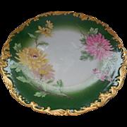 """T & V Limoges France Depose Porcelain 9.25"""" Plate Hand Painted"""