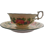 Beautiful Wedgwood Floral Cup and Saucer England