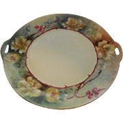 "Silesia Double Handled 9.5"" Floral Plate"