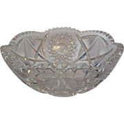 American Brilliant ABP Cut Crystal Bowl 8 inches