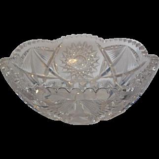 American Brilliant ABP Cut Crystal Bowl 8 inches