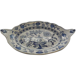 Johnson Bros. Blue Meissen Flo Blue Onion Pattern Turkey Platter