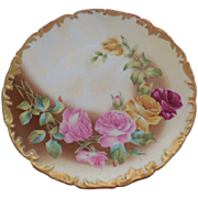 1907 T & V  Limoges France Floral Plate Signed