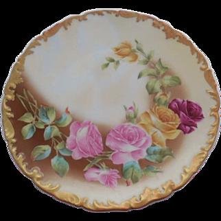 1907 T & V  Limoges France Floral Plate Signed