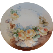 Limoges France JPL(Jean Pouyant)  Floral  Porcelain  Plate 9 inches