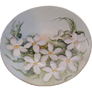 J.P.L. (Jean Pouyant Limoges) Porcelain  Handpainted with Floral Design