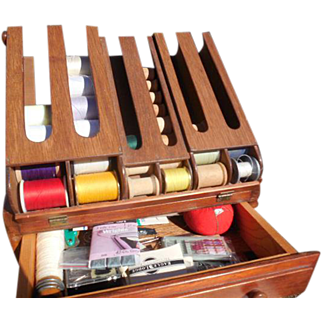 Thread and Spool Cabinet with Supplies