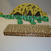 Howard Finster Two-Headed Dinosaur (Lizard)