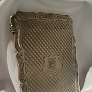 English Victorian Sterling Card Case