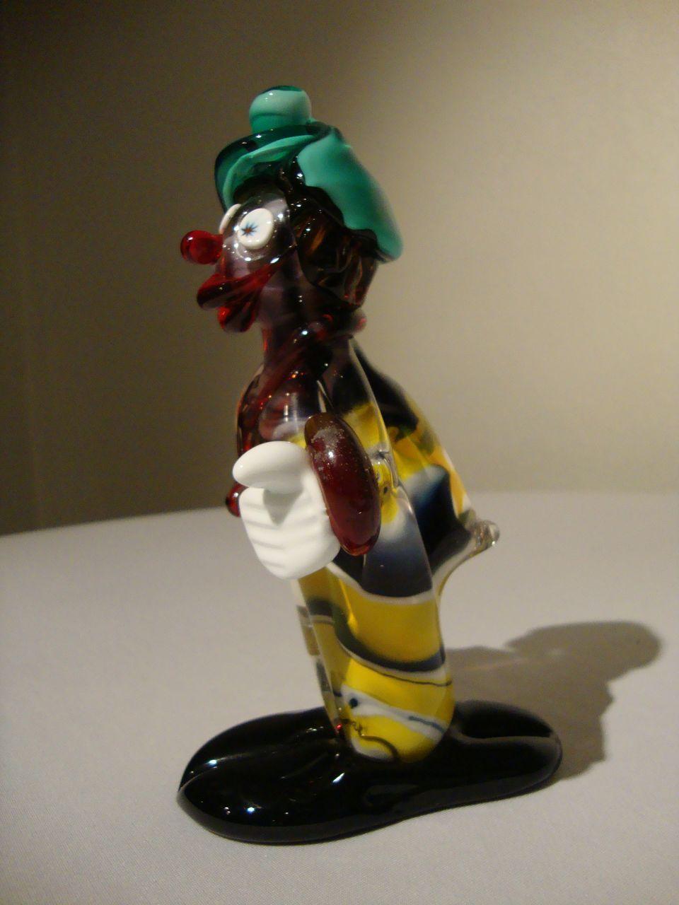 Murano Glass Clown By Icet Of Venezuela From Auntiesattic