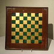 Reverse Painted Glass Checker Board