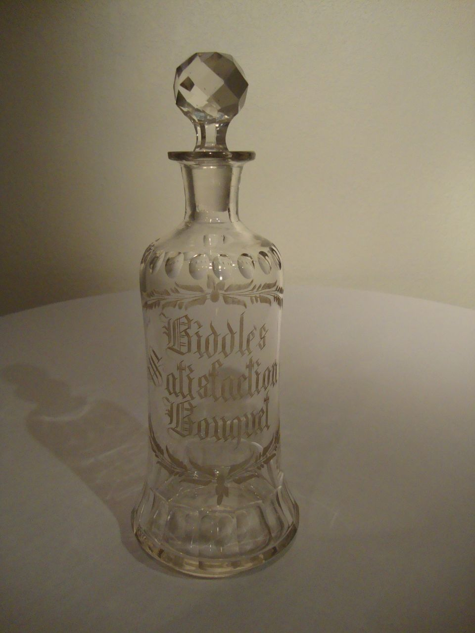 Biddle's Satisfaction Bouquet – Perfume Bottle / Decanter