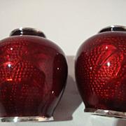 Pigeon Blood – Akasuke Cloisonne Miniature Matched Cabinet Vases