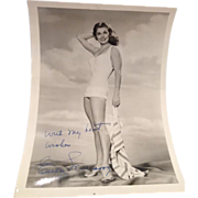 "Esther Williams Autographed Pin-Up (7"" x 5 1/8"")"