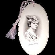 Rare Bridge Tally with photograph of Maude Adams as Peter Pan