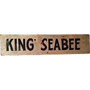 Horse Stall Wooden Name Plate – 1890s