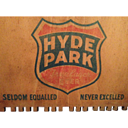 WWII Era Hyde Park Beer Case End