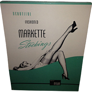 1940's-1950's Markette Pin-Up Graphic Stocking Box